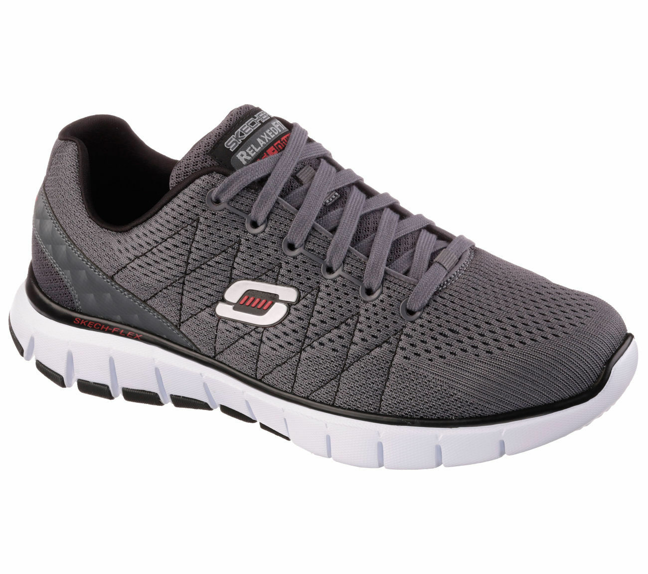 51442 Skechers Men's Running shoes Lace-up Charcoal Black CCBK