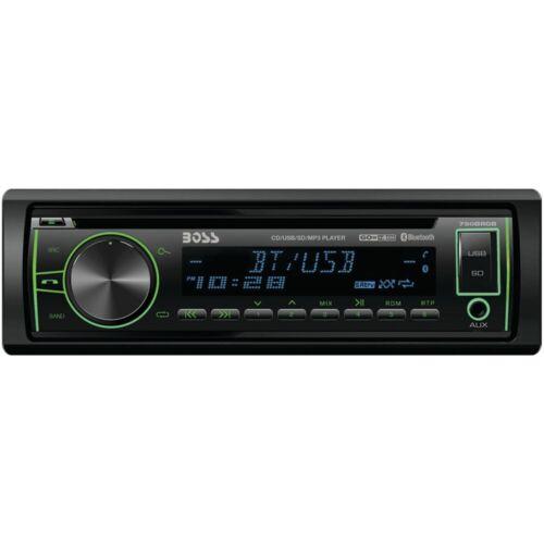 Boss Audio 750Brgb Single Din Cd//Mp3 Receivermulti-Color Display Bluetooth Usb