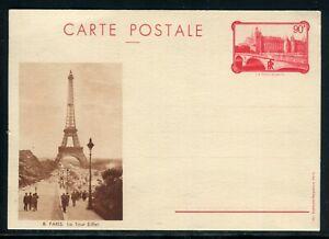 Entier Postal Conciergerie De Paris , Illustration Tour Eiffel , Non Circulé Vif Et Grand Dans Le Style