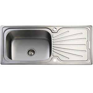 Large Stainless Steel Sinks Uk : New-Large-Stainless-Steel-Single-Bowl-Inset-Kitchen-Sink-With-Plumbing ...