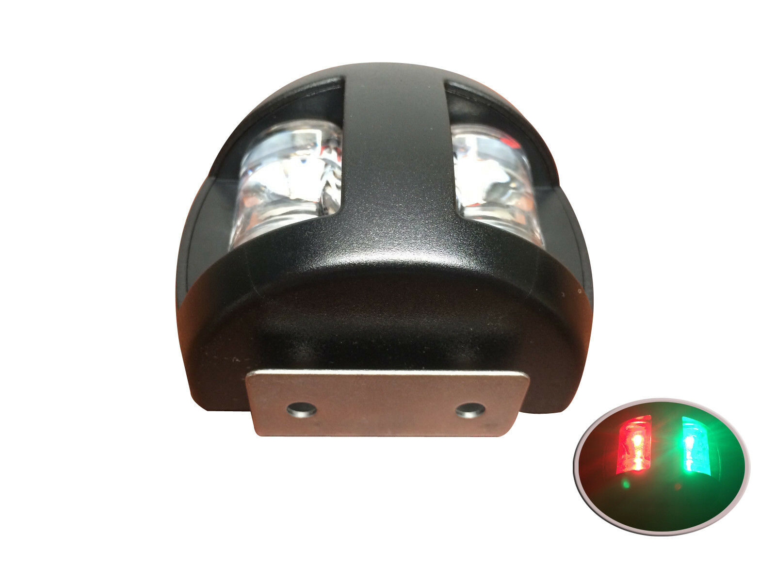Pactrade Marine Boat Combo Side LED Bi-Color Pair Red /& Green Navigation Light USCG 2 NM ABYC A16 Approval 12v White