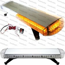 33 inch 56 LED Amber White Construction Warning Truck Strobe Light Tow Roof Bar