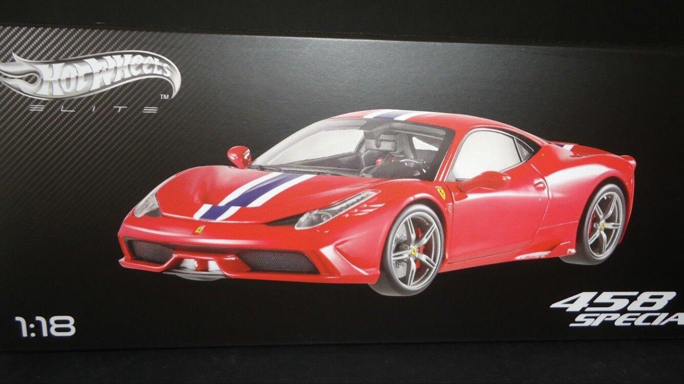 1 18 Hotwheels Elite Ferrari 458 Speciale Red sold out mega rare