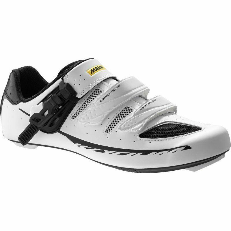 nuovo £99 Mavic Ksyrium Elite 5 38 Strada Spd Sautope Ciclismo Bianco 36 37 4 nn.