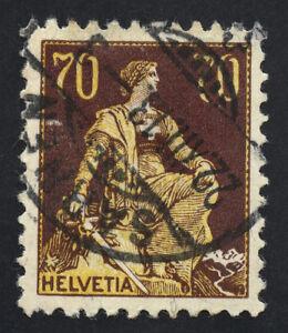 01884 Switzerland Scott #141 70c used, SCV = $27.50