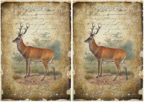 Decoupage-Bastelpapier-Softpapier-Weihnachten-Hirsch-Reh-12437