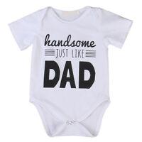 Newborn Toddler Baby Boys Romper Jumpsuit Bodysuit Outfit Sunsuit Clothes 0-18M