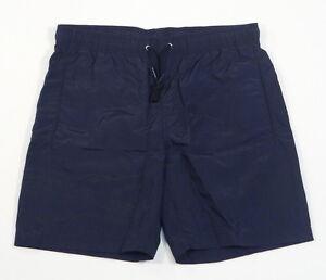 72085bf72b10 Image is loading Lacoste-Logo-Dark-Blue-Brief-Lined-Swim-Trunks-