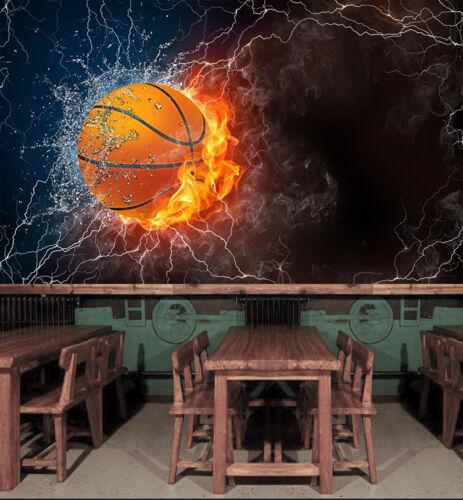 3D Powerful Basketball 1476 Wallpaper Decal Dercor Home Kids Nursery Mural Home