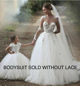 2f6c87715757 Image is loading Semi-Sheer-Mesh-Bodysuit-Bridal-Cover-up