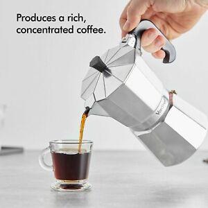 VonShef  6 Cup 18/0 Stainless Steel Polish 300mI Stove Top Espresso Maker