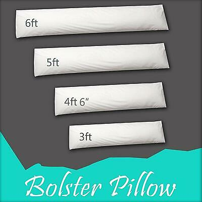 Extra Fill Duck Feather Bolster Pillow Yoga  Neck Support Maternity Cushion Pad