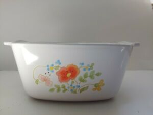 Vintage-Corning-Ware-P-43-B-Wildflower-2-3-4-Cup-Baking-Dish-No-lid