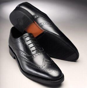 Samuel Windsor Mens Brogue Shoes Black