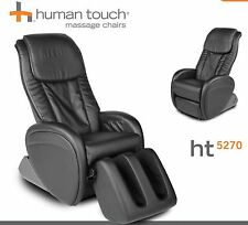 black ijoy ht5270 human touch leather massage chair recliner massaging lounger