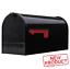 thumbnail 1 - Large Post Mount Mailbox Metal Galvanized Rural House Mail Box Steel Black NEW
