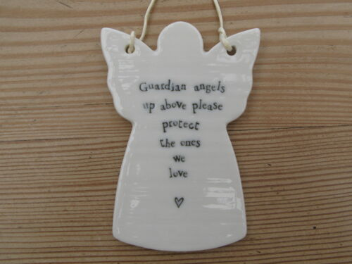 East of India Porcelain Ceramic Hanging Hearts Butterfly/'s Stars Birds Angels