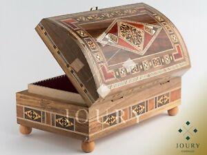 Medium Size Mosaic Box  Marquetry  inlaid walnut  Jewelry box  Christmas Gifts For Home  Handmade  Chocolate Box packaging Memory Box