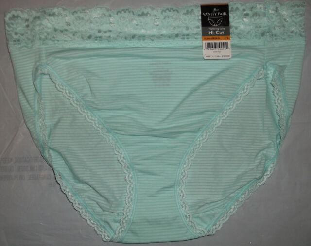 b8ec051ad845 Vanity Fair Flattering Lace 13280 Hi-cut Panty Panties 6 M 7 L 8 XL ...