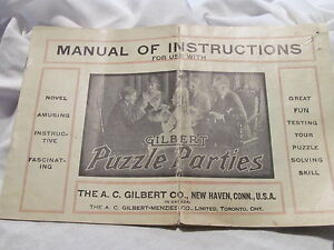Gilbert-Puzzle-Parties-Manual-of-Instructions-Booklet-1919