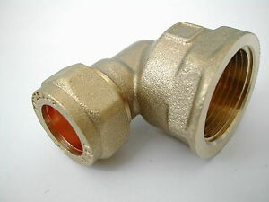 15mm-Compression-x-3-4-Inch-BSP-Female-Iron-Elbow-Brass-Plumbing-Fittting