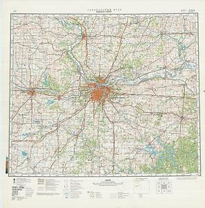 Details about Russian Soviet Military Topographic Maps - KANSAS CITY (USA),  1:500K, ed. 1983