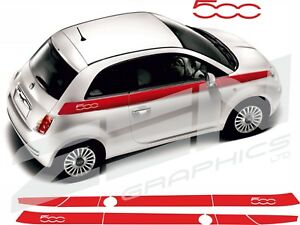 Fiat-500-Sport-vinyl-Side-Stripes-Decals-Stickers-panel-fit-500-any-colour