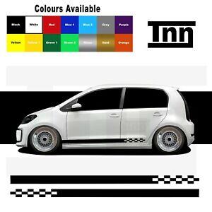 Rayas-Laterales-Pegatinas-Calcomanias-de-Vinilo-para-VW-UP-Up-Skoda-Citigo-Seat-MII-GTI
