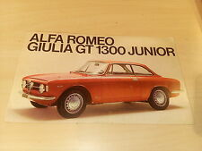 Depliant brochure prospect Alfa Romeo Giulia GT 1300 JUNIOR Tedesco (Deutsch)