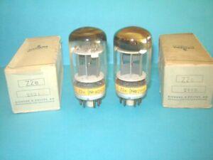 2x valvole Siemens Z2e nuove e  provate. Tube lampe Röhre. NOS postal tube