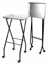 Folding Dental Instrument Tray Steel Medical Rolling Cart Lab Hospital Clinic