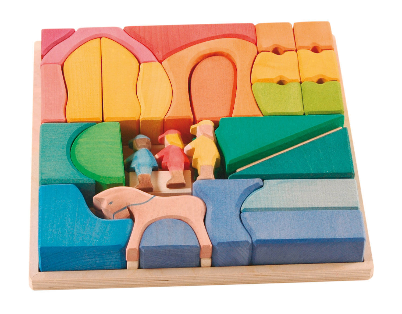 Kinderkram Regenbogen Reiterhof Puzzle Ostheimer 5510098