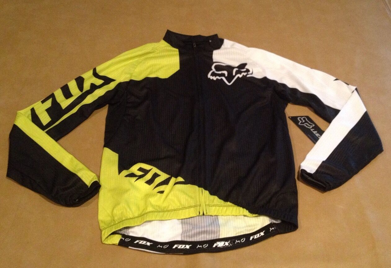 NWT Fox Bike Cogreen SS Jersey Acd GRN Long  Sleeve Zip Up Men Small NEW  up to 60% off