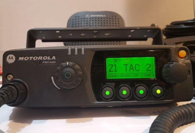 Motorola PM1500 VHF 136-174 MHz 110W P25 MDC Digital Mobile Radio AAM79KTD9PW5AN