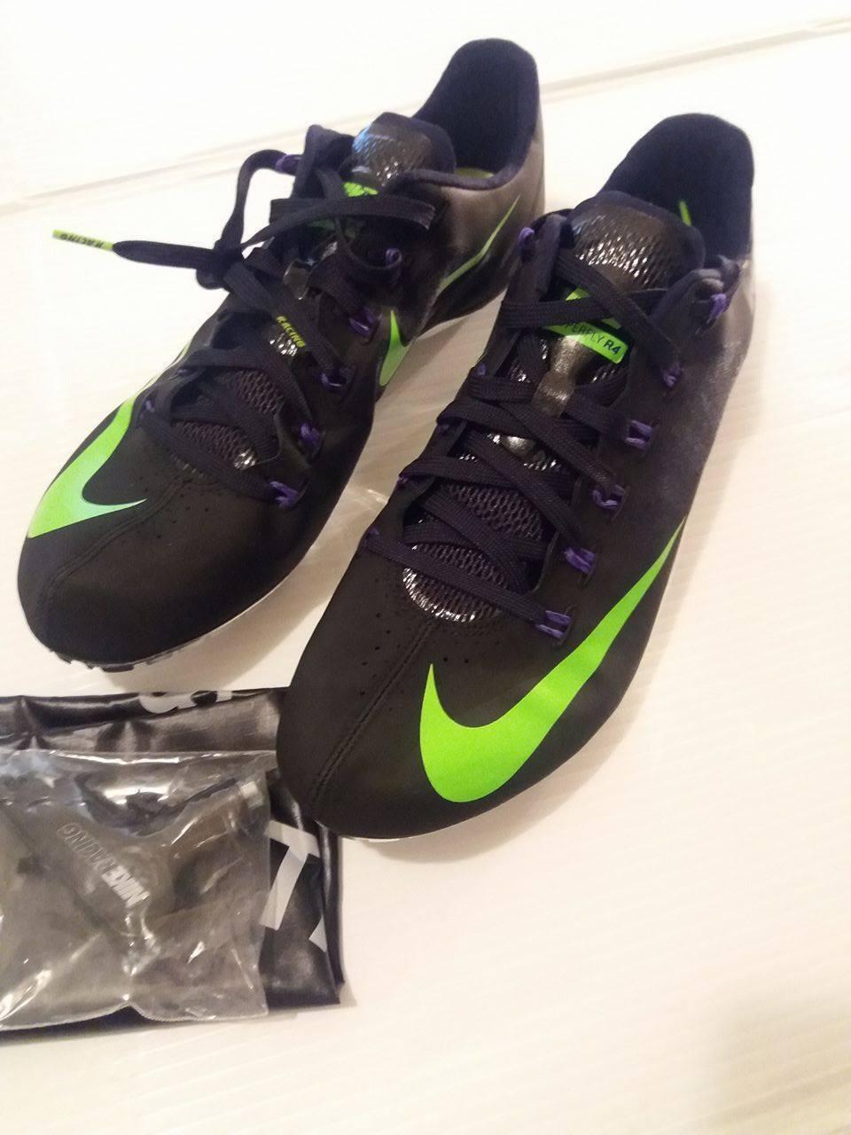 Nike Zoom Superfly R4 Picos De Zapatos Para Para Zapatos Correr Negro Verde Plata 526626-035 464af9