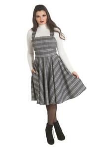 Hell-Bunny-Frostine-Tartan-Gingham-Check-Vintage-Retro-1960-039-s-Pinafore-Dress