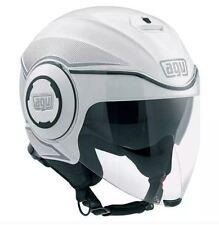 CASCO DEMI-JET AGV FLUID MULTI - RADIUS WHITE/SILVER TAGLIA XL