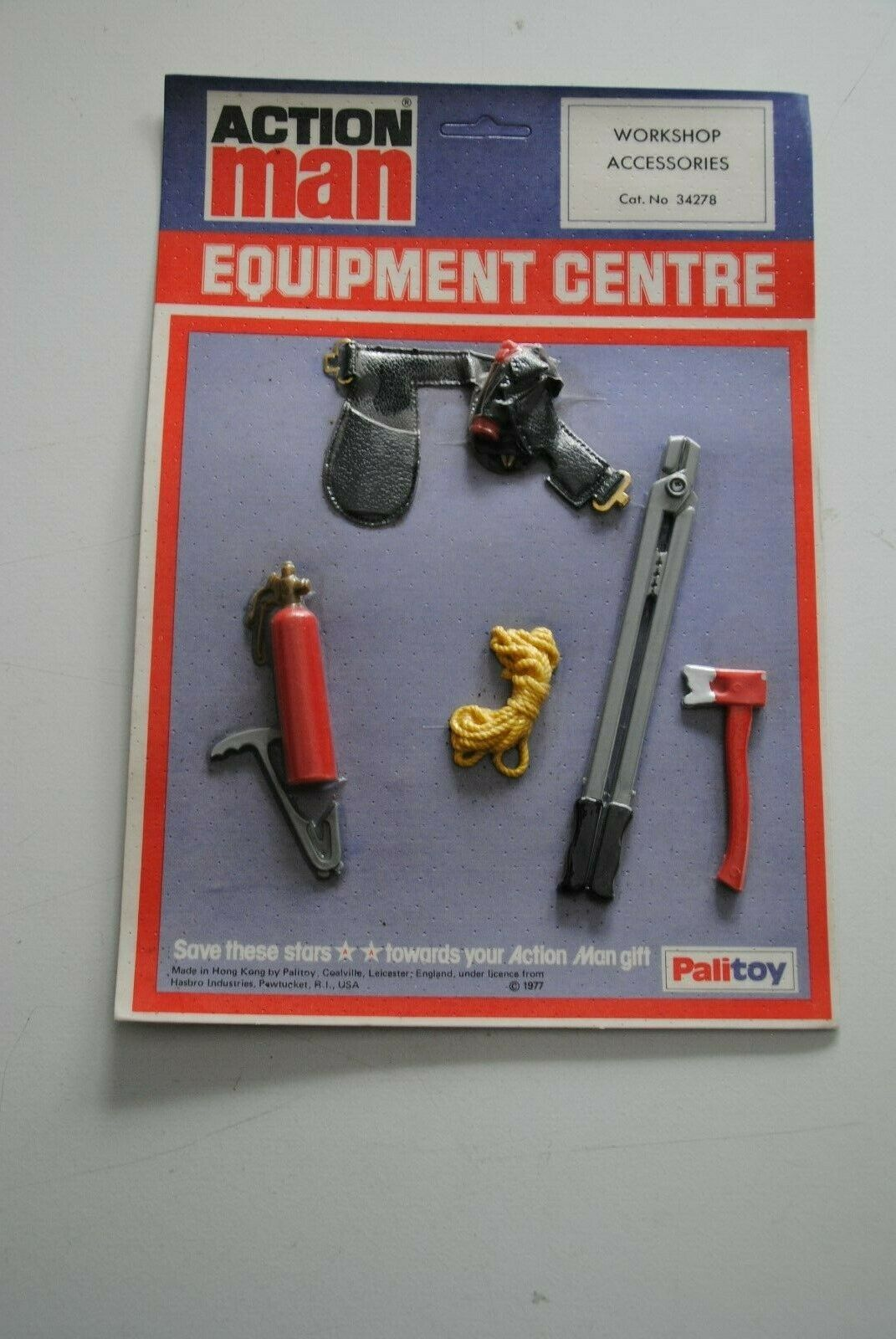 ACTION MAN palitoy GI JOE EQUIPMENT CANTER CARD   WORKSOP ACCESOIRES    RARE