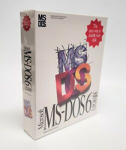 "NIB - Operating System Microsoft MS-DOS 6 Upgrade on 5.25"" High Density Disks"