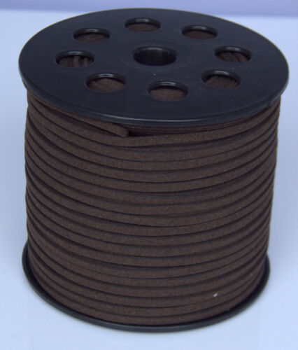 new 10yds 3mm drak brown Suede Leather String Jewelry Making Thread Cords hot