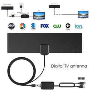A44-50-Meilen-Aktive-DVB-T-Antenne-DVB-T2-Zimmerantenne-30dB-Verstaerker-5m-Kabel