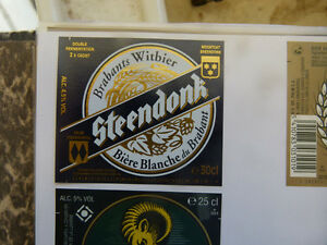 VINTAGE-BELGIUM-BEER-LABEL-PALM-BREWERY-STEENDONK-WHITE-ALE-30-CL