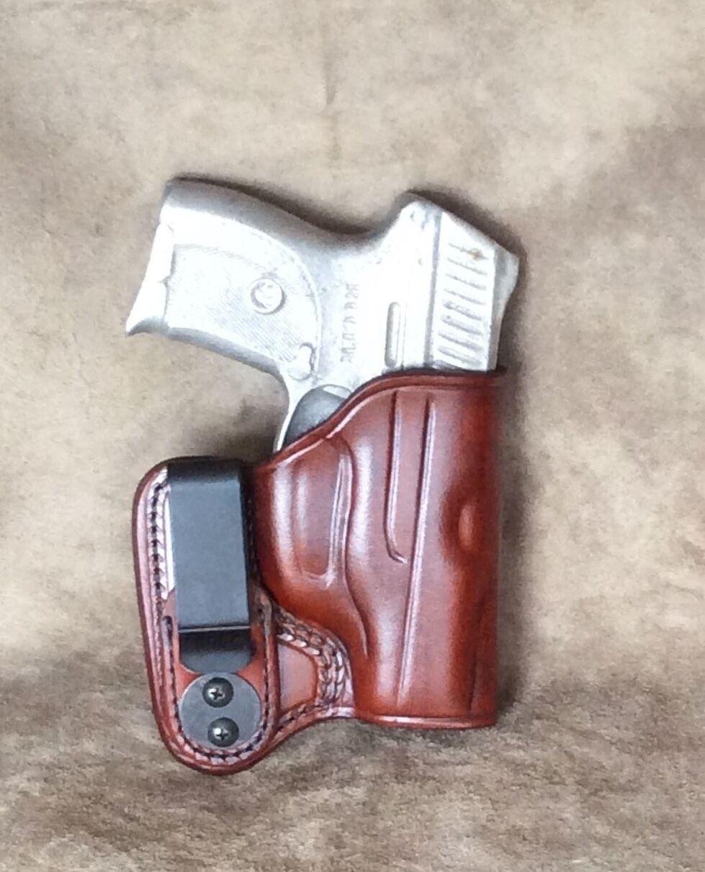 Ruger LC9 dentro de la cintura Tuckable Leather Funda por ETW Holsters.. Hickory, Carolina del Norte