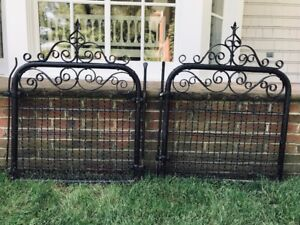 Image Is Loading Pair Of Antique Vintage Iron Gates Rustic For