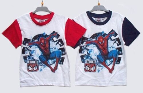 "TOP IN COTTON WHITE BNWT NEW CHILDREN,S /""ULTIMATE 50 SPIDERMAN/"" PRINT T-SHIRT"