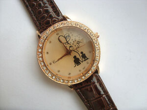 Cute-Lovers-Crystal-Quartz-Watch-Faceted-Glass-Face-Brown-Strap
