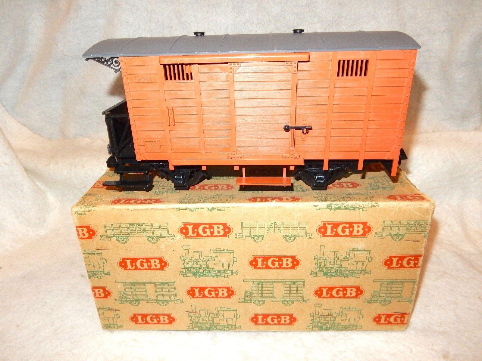 Raro LGB gris Caja con 4030 Furgón con ejes de Metal  muy difícil de encontrar como este