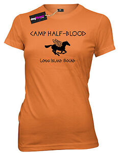 Camp-Half-Blood-Funny-Book-T-Shirt-Womens-Ladies-Girls-T-shirt