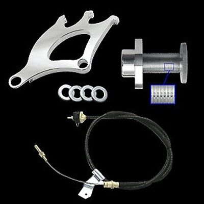 79-95 Mustang 3pc Clutch Cable Triple Pick Up Quadrant & Firewall Adjuster Kit