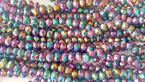 Joblot-of-10-strings-Rainbow-6mm-round-shape-Crystal-beads-new-wholesale